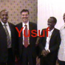 Yusuf Googaar (Somalilander) second to left with Bruno Gedo, a former UNHCR Representative in Yemen
