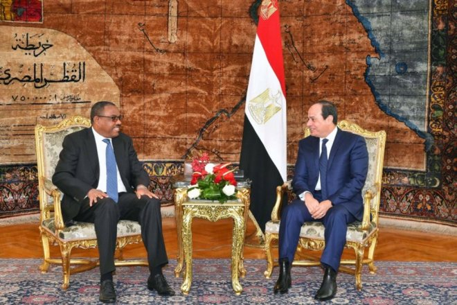 Ethiopian PM arrives in Egypt for talks on sharing Nile