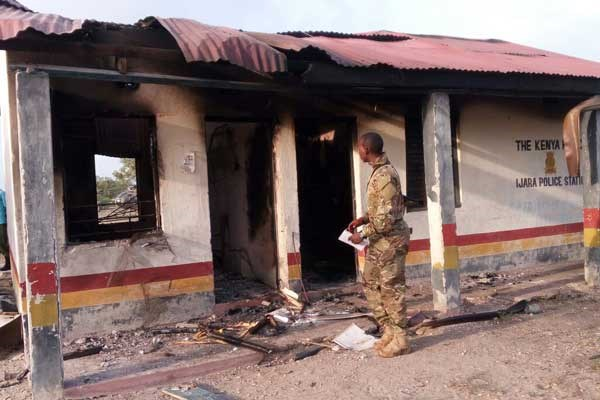 Suspected Shabaab attackers burn police station in Ijara