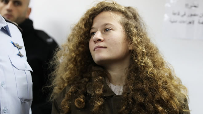 Trial of Palestinian girl who slapped Israeli soldiers begins