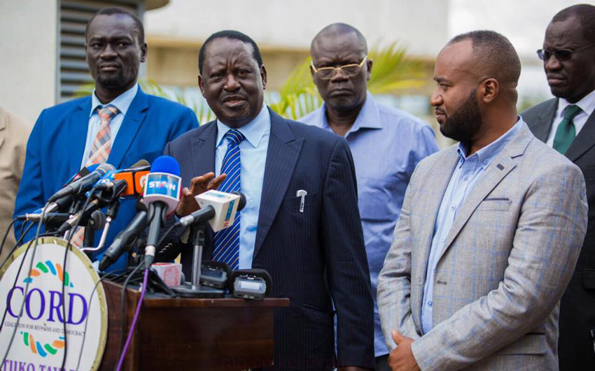 Kenyatta vows to beat Raila